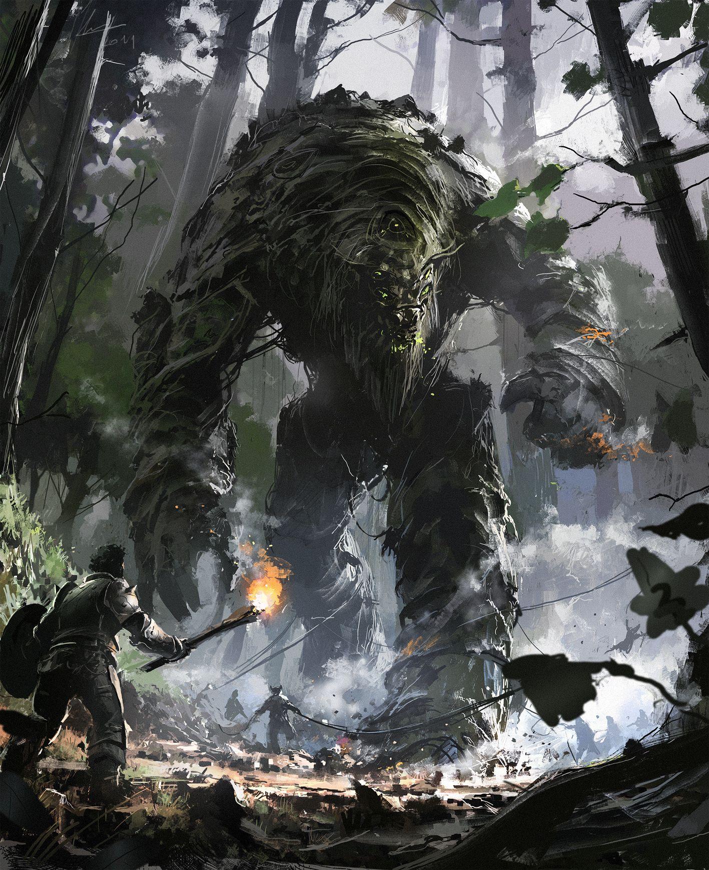 Giant Fantasy Concept Art Dnd