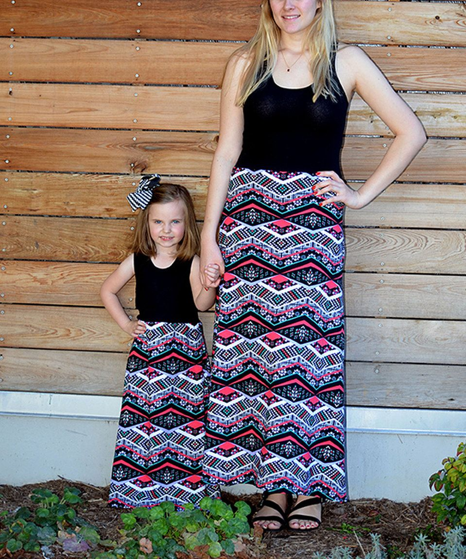 Look at this #zulilyfind! Black & Purple Maxi Dress Set - Infant, Toddler, Girls & Women by CopyCat Couture #zulilyfinds