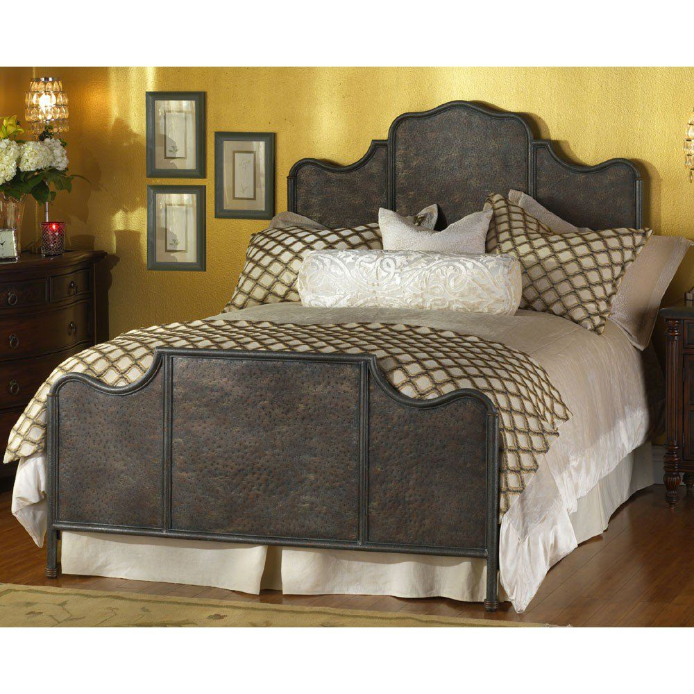 Wesley Allen Abington King Bed Iron headboard, Bed