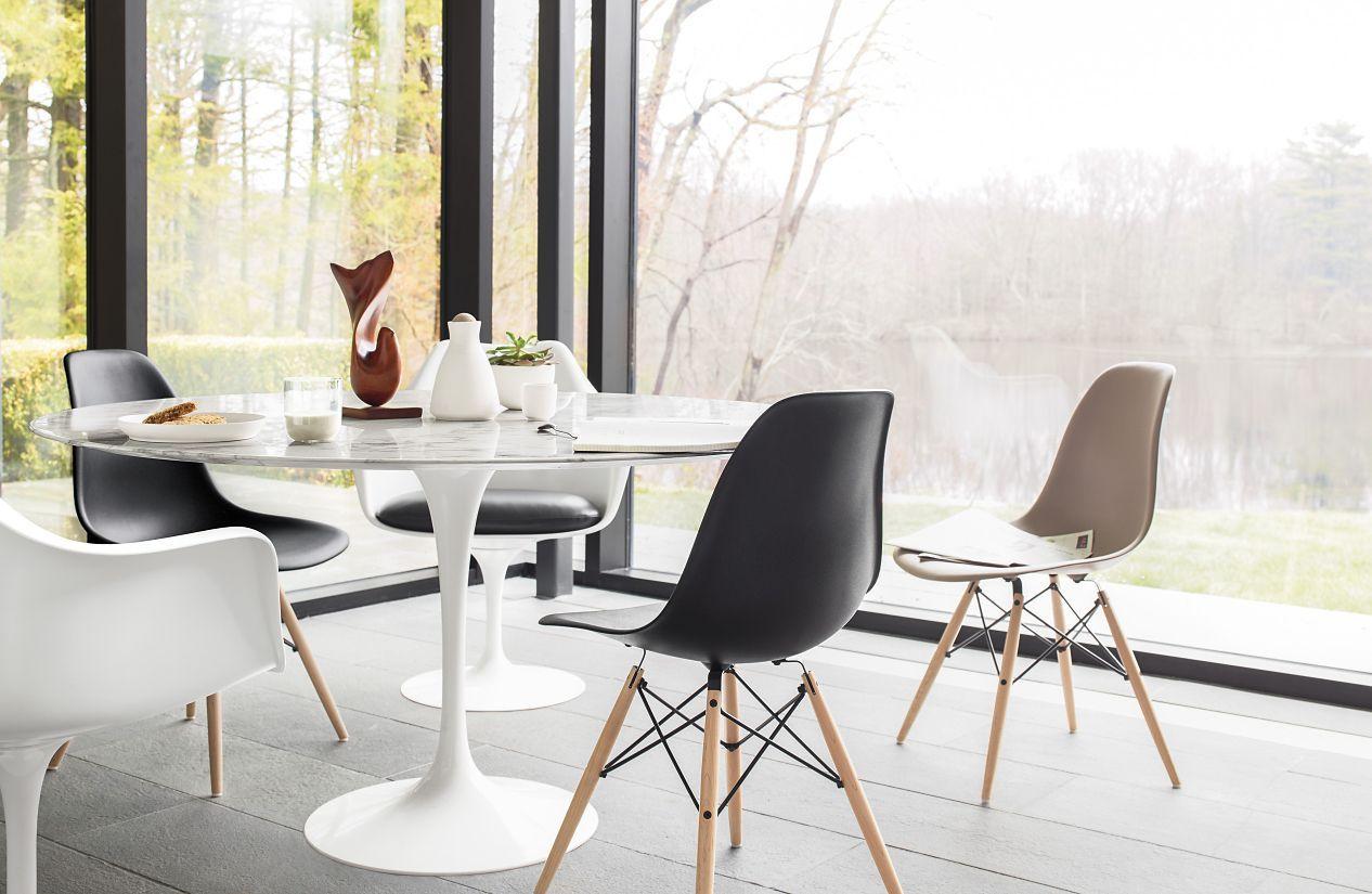 Beau Eames® Molded Plastic Dowel Leg Side Chair (DSW)