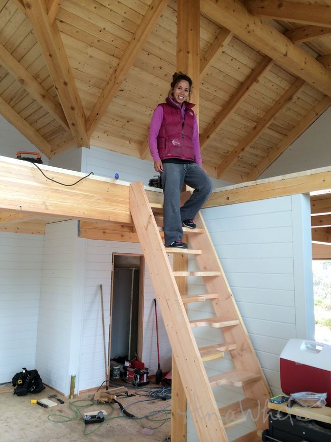 Best Crafty Diy Loft Or Cabin Stairs Thanks To Knockoffwood 400 x 300