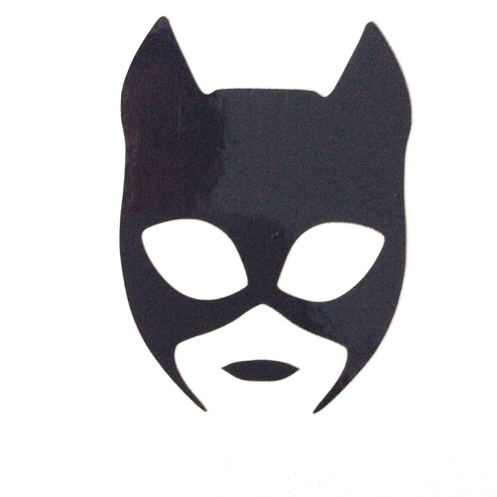 Catwoman Mask Vinyl Decal Sticker 70mm X 94mm Approx