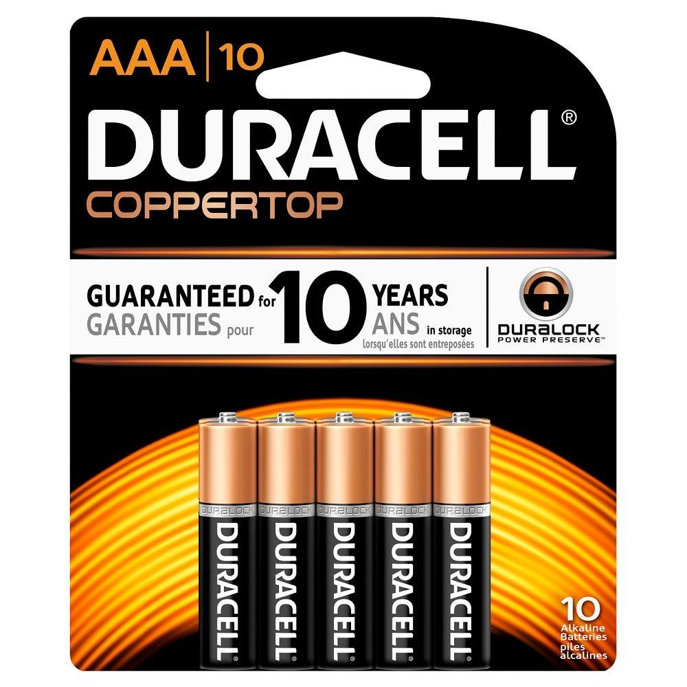 Duracell Coppertop Aaa Batteries 10 Pack Alkaline Battery Duracell Alkaline Battery Batteries
