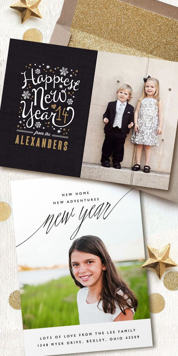 Cute idea instead of Christmas Cards Unique New Year\'s Photo Cards ...