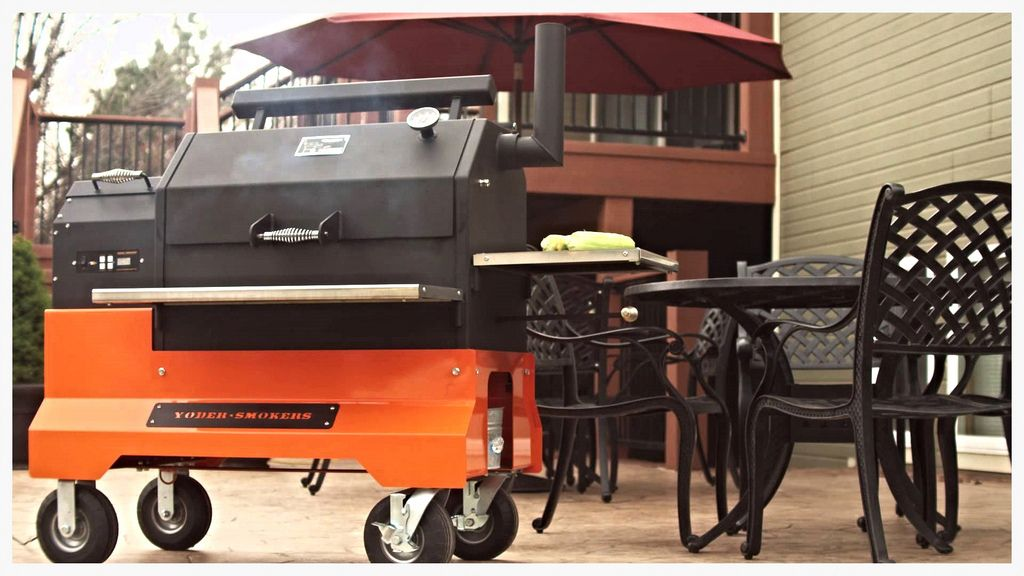 Yoder YS640 Competition Cart pellet smoker | Yoder Smokers