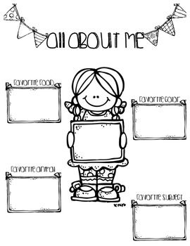 All about me sign for students to fill out and use to introduce themselves to the class. They can be displayed as a cute bulletin board!!Clipart Credit: Melonheadz Illustrating
