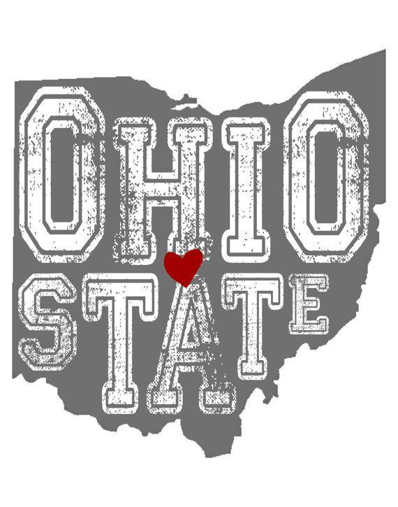 Ohio State Buckeye Print Digital File Ohio State Sign Ohio State Ohio State Buckeyes Football Ohio State Shirts