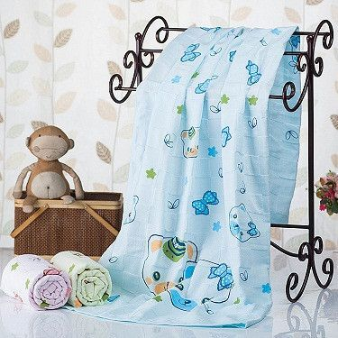 Very Nice Adorable Children's Cartoon Print 100% Cotton Bath Towels Fast Drying
