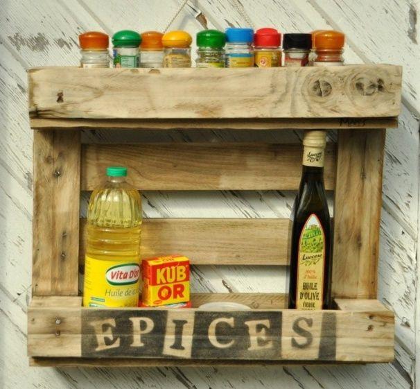 Assez Quand les palettes de bois deviennent des étagères à épices | Idée  BM72
