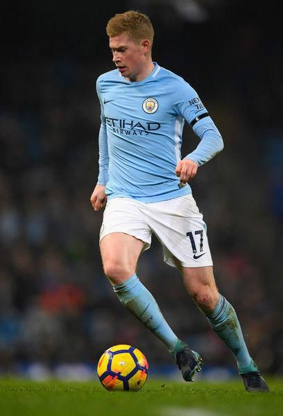 City player Kevin De Bruyne in action during the Premier ...