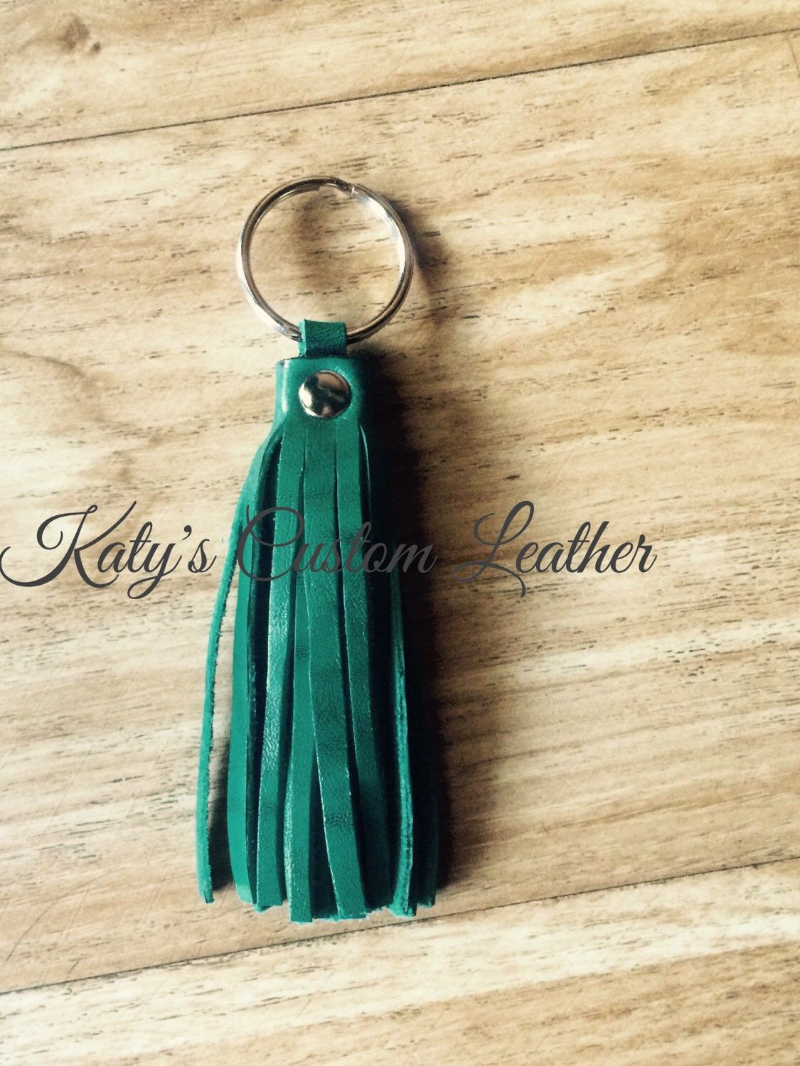 A personal favorite from my Etsy shop https://www.etsy.com/listing/250048648/turquoise-tassel-keychain