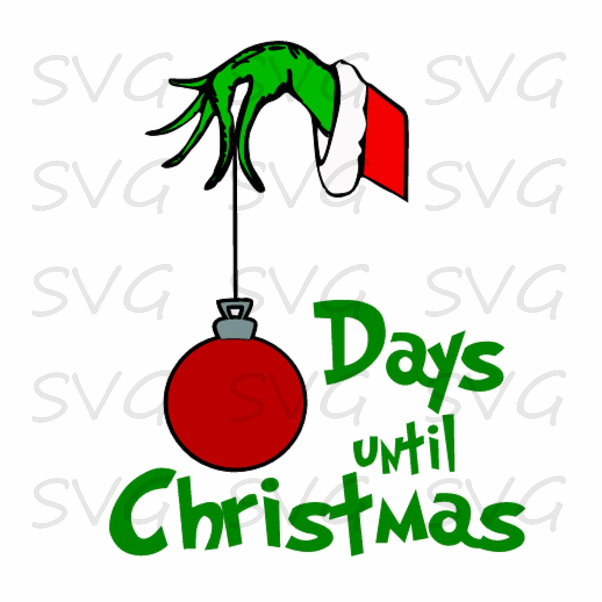 Christmas Grinch Svg.Countdown To Christmas Svg