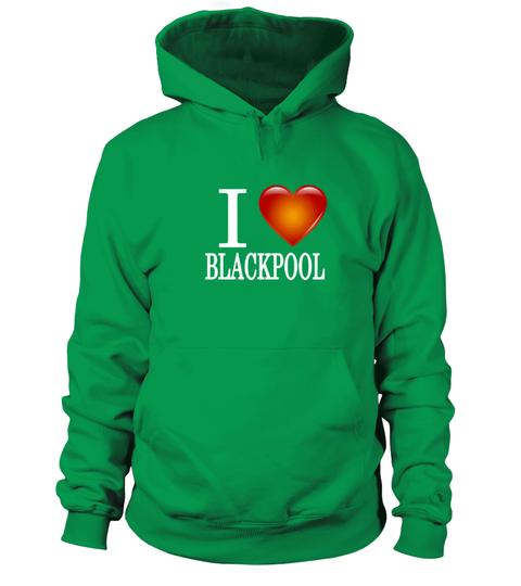 I Love Heart Blackpool Kids Hoodie Sweatshirt