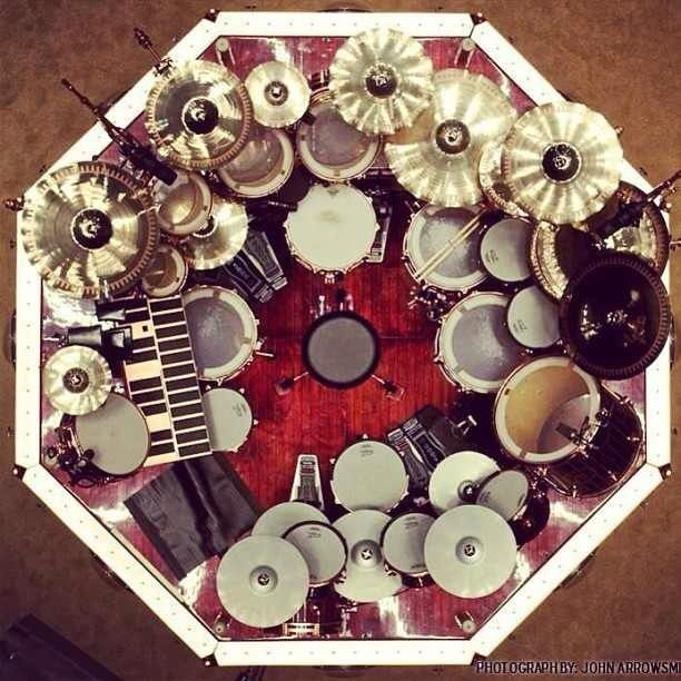 Neil Peart S Drumset From Above Drums Pinterest Drums Drum