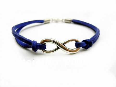 Blue Leather Infinity Bracelet from P.S. I Love You More. Shop online at: http://psiloveyoumore.storenvy.com