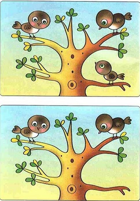 картинки для детей найди отличия (4) (484x693, 822Kb) (с ...