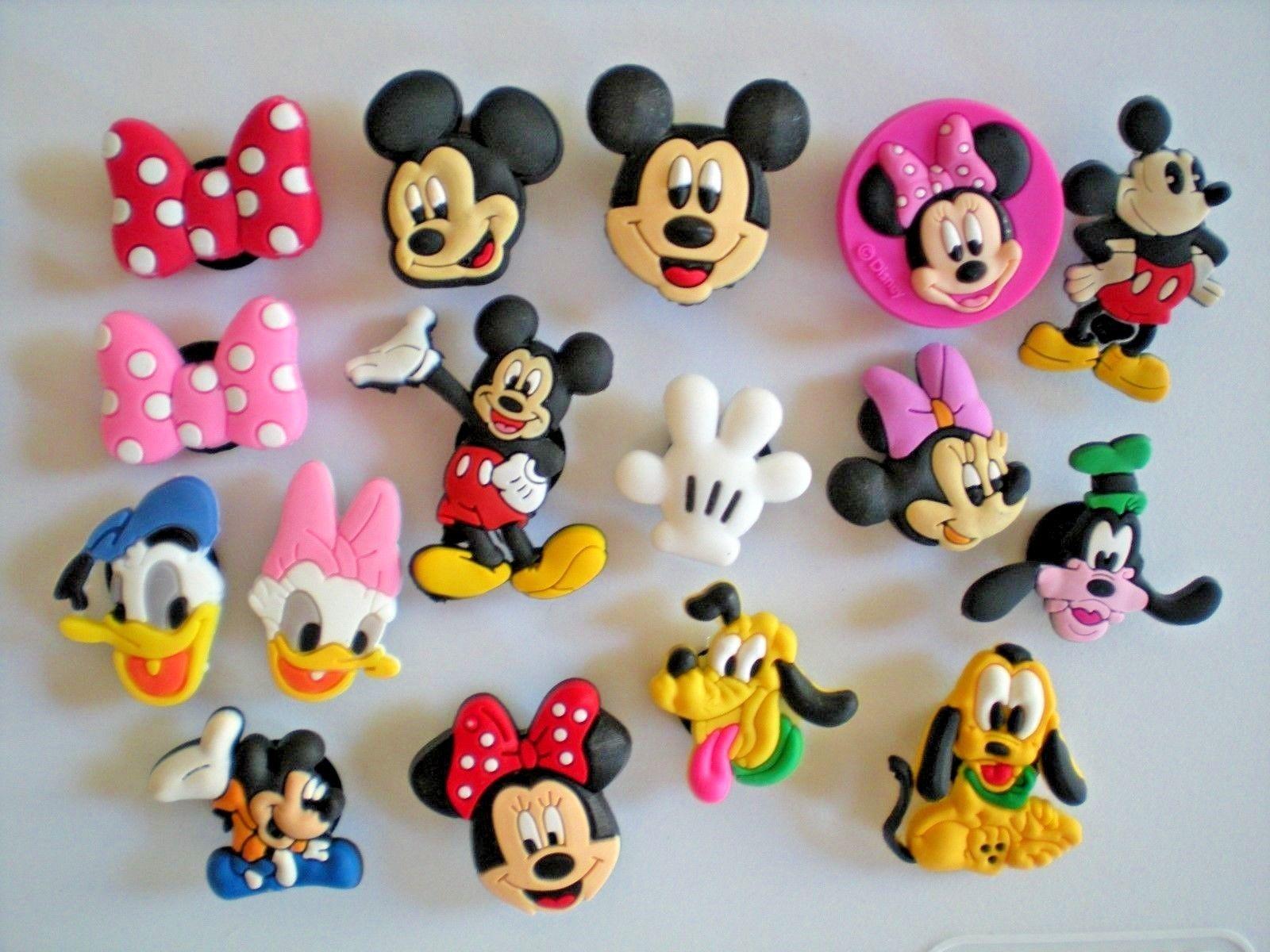 Jibbitz Clog Shoe Plug Button Charms Fit Bracelet Accessories 16 Pc Disney