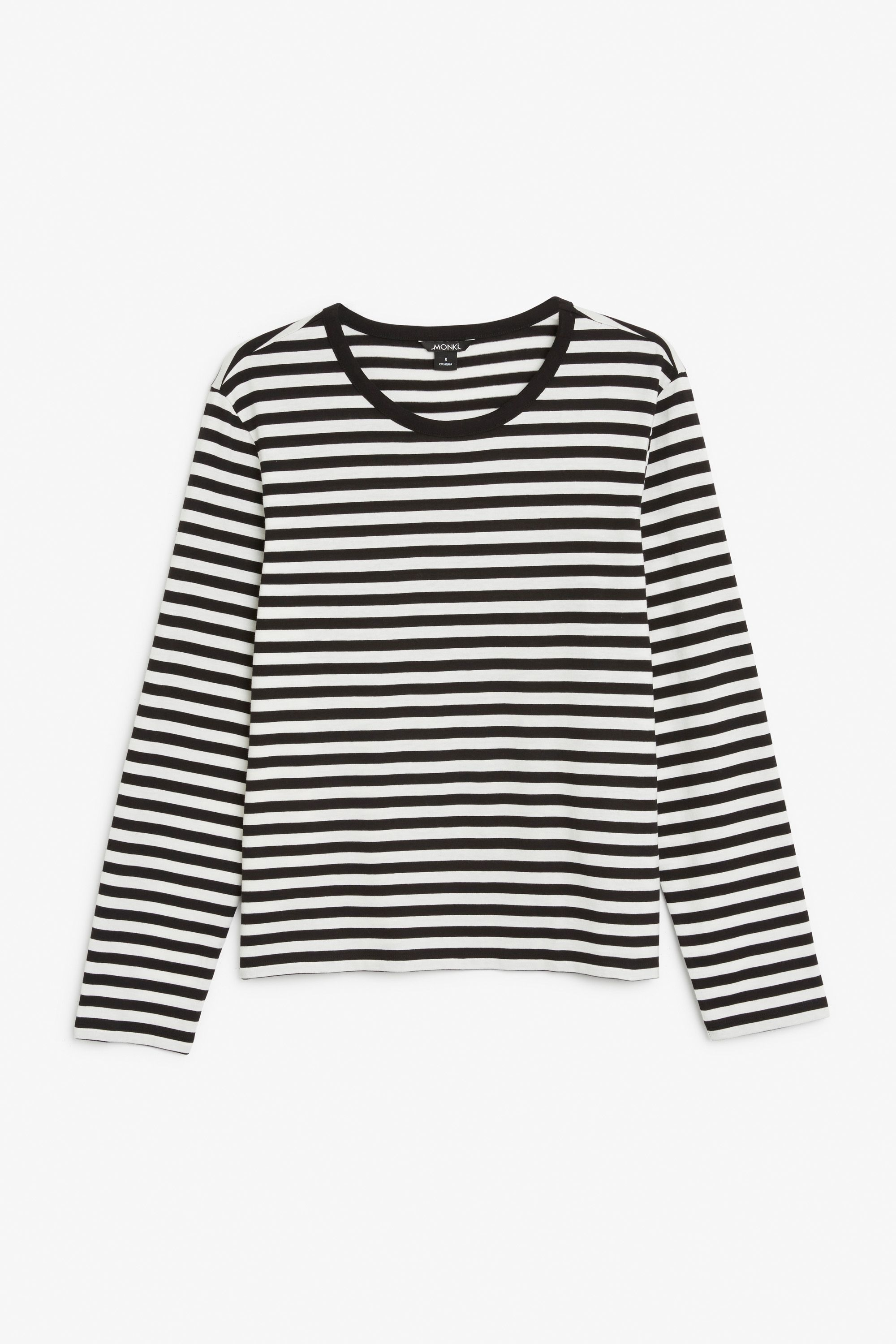 Monki Image 1 of Soft long-sleeved top in Black