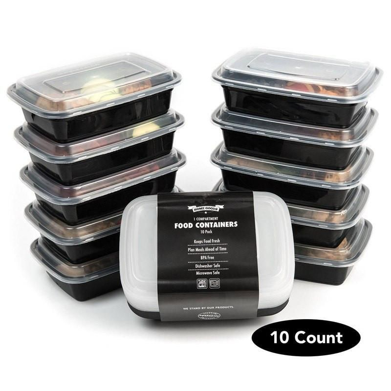 Marvelous Freezer Safe Storage Containers Part - 9: Set Of 10 - 1 Compartment Food Storage Containers Stackable With Lids BPA  Free Microwave, Freezer And Dishwasher Safe