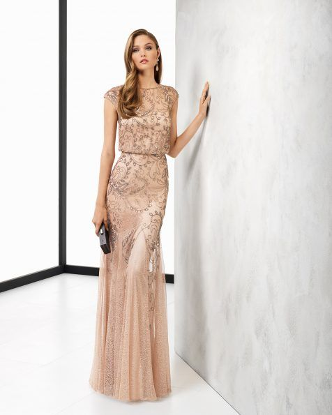 4b80efd4c100 Vestito da sera lungo oro – Abiti corti