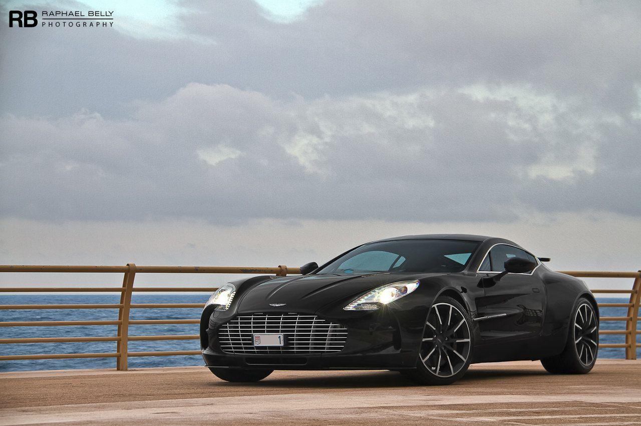Black Aston Martin One 77 Front Side View Aston Martin Pinterest