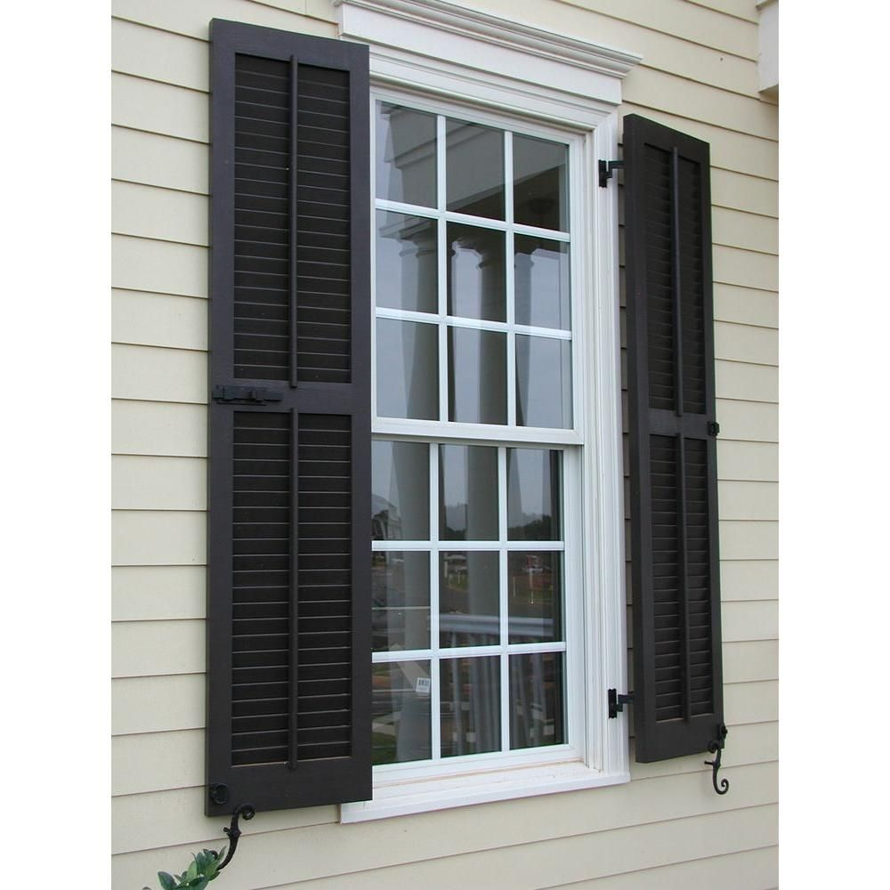 Ekena Millwork 15 In X 63 In Exterior Composite Wood Louvered