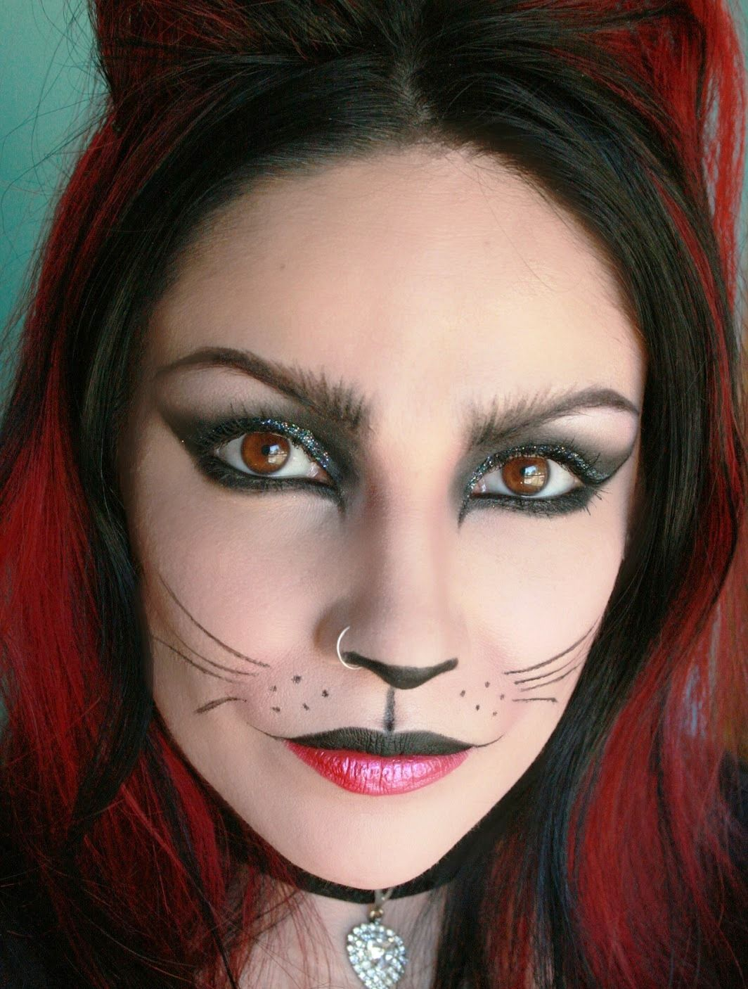 The 25+ best Cat face paintings ideas on Pinterest | Cat ...  |Cat Makeup For Adults