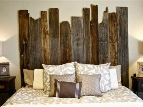 Bett Kopfteil Matratze Holzplatten Verschieden Größe Rustikal