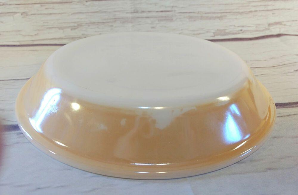 Vintage Fire King Peach Lustre 9 Pie Plate