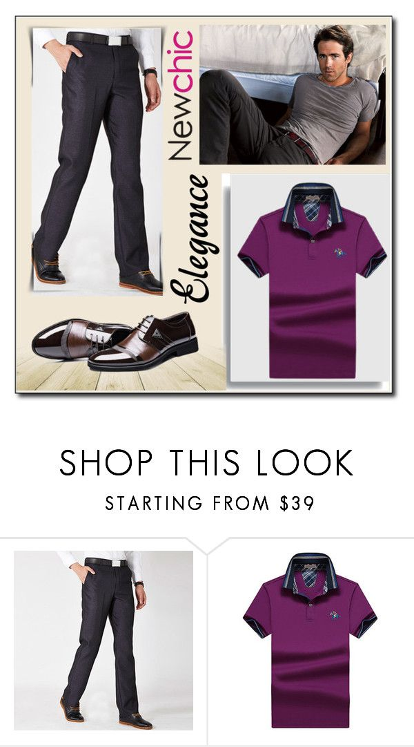 """""""Newchic - Men  fashion 7"""" by selmamehic ❤ liked on Polyvore featuring men's fashion and menswear"""