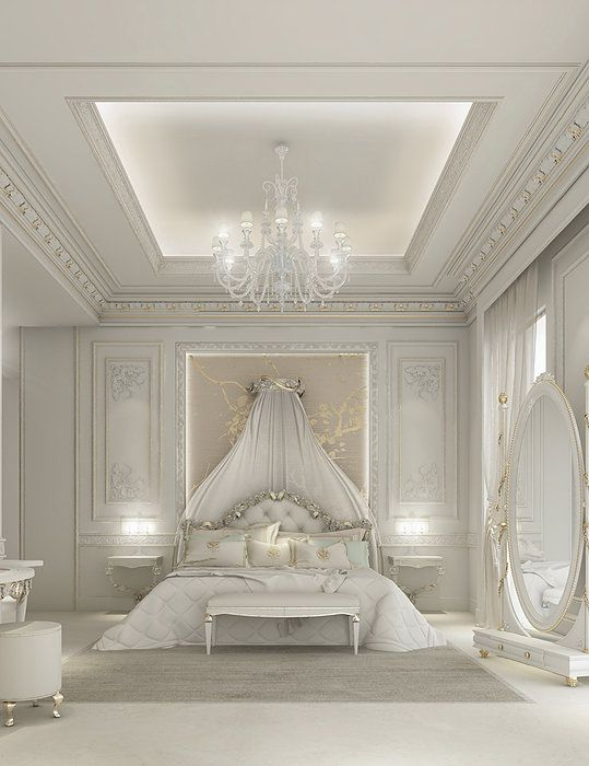 White Luxury Master Bedroom