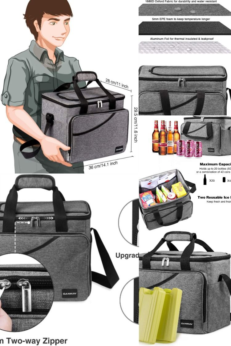 Cooler Bag 40-Can Large, Insulated Soft Sided Cooler  #familypicnicfoods