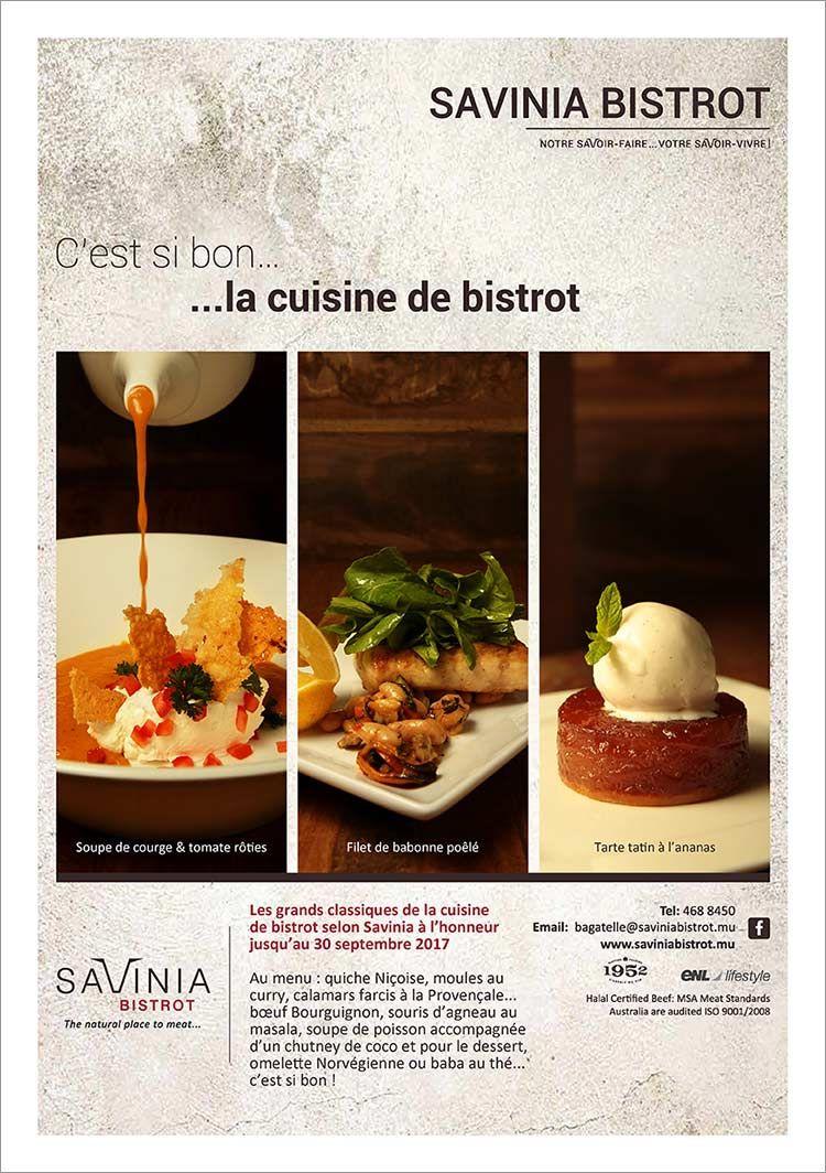 Savinia Bistrot Les Grands Classiques De La Cuisine De