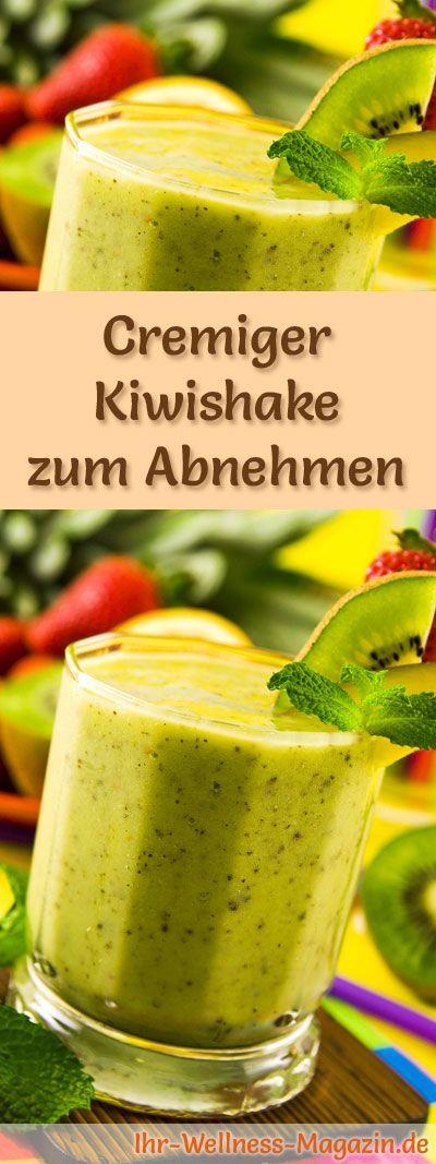 Kiwishake zum Abnehmen - Smoothie & Abnehmshake zum selber machen #diet
