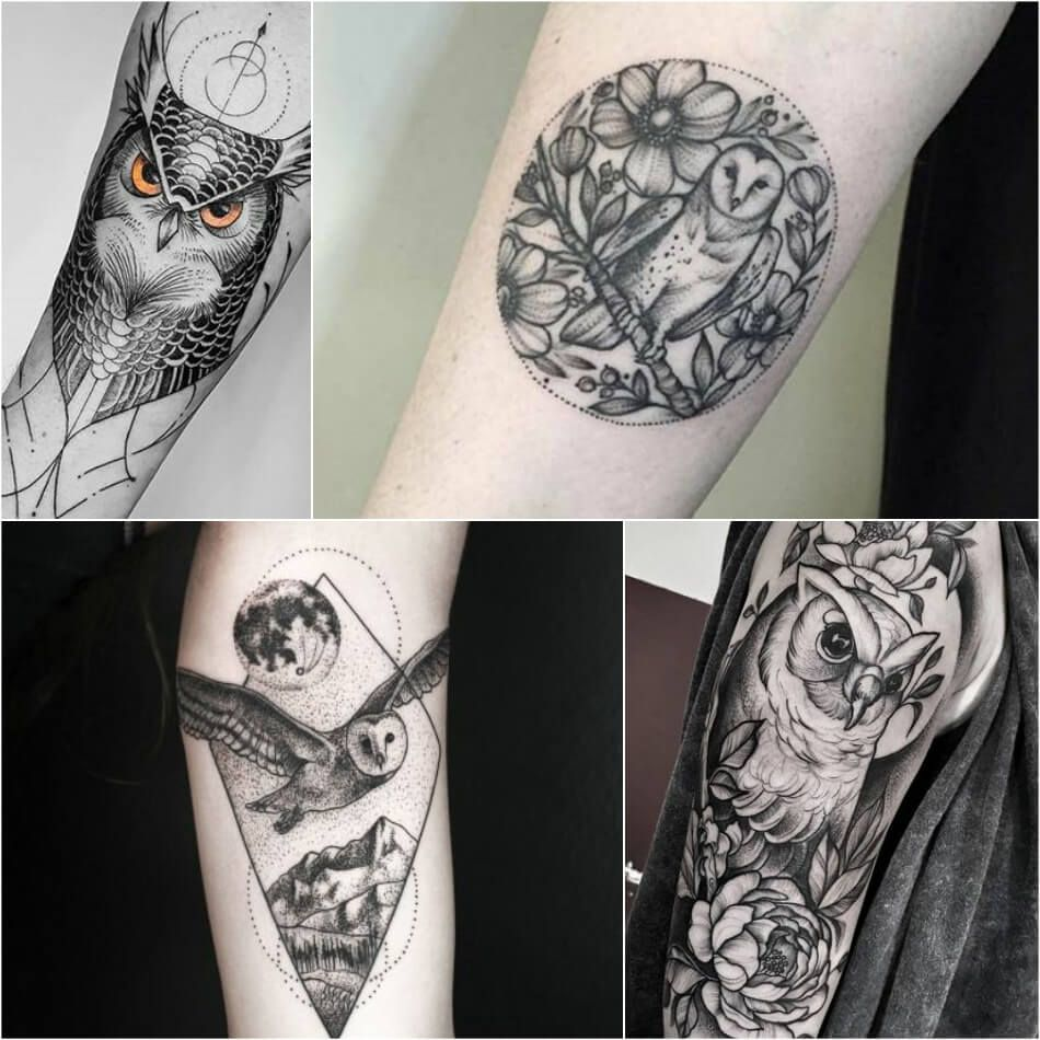 Owl Tattoo Owl Tattoos Black And Grey Simple Owl Tattoos Explore More Tattoo Ideas On Positivef Simple Owl Tattoo Owl Tattoo Small Tattoos For Women Small