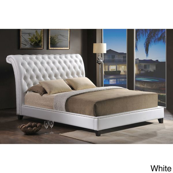 Jazmin Tufted Modern Bed With Upholstered Headboard Modern Bed