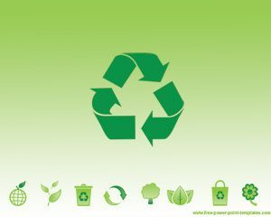 this is an ecological and recycling slide in a powerpoint, Presentation templates