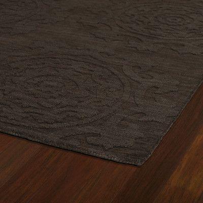 "Kaleen Imprints Classic Chocolate Solid Area Rug Rug Size: 9'6"" x 13'6"""