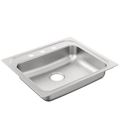 Moen 2200 Series 25 X 22 Drop In Kitchen Sink Sink Stainless