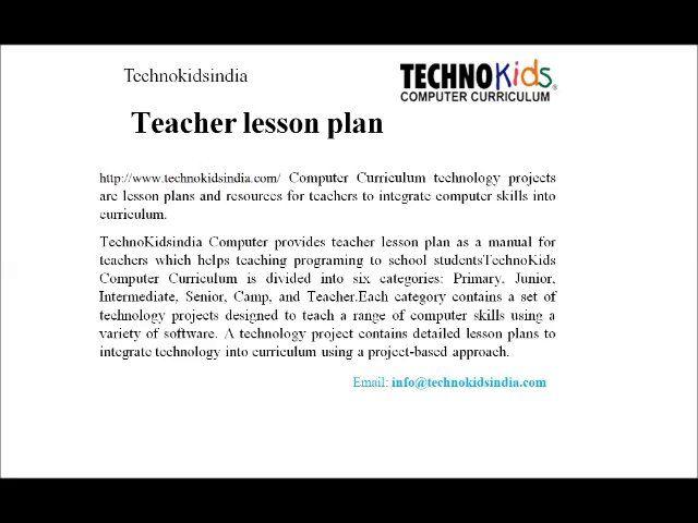 Teacher Lesson Plancomputer Learning Centercomputer Worksheet