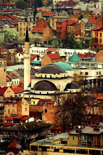 Sarajevo Mosque Seen In Skylines Austrian Airlines Magazine Sarajevo Bosnia Sarajevo Eastern Europe Travel
