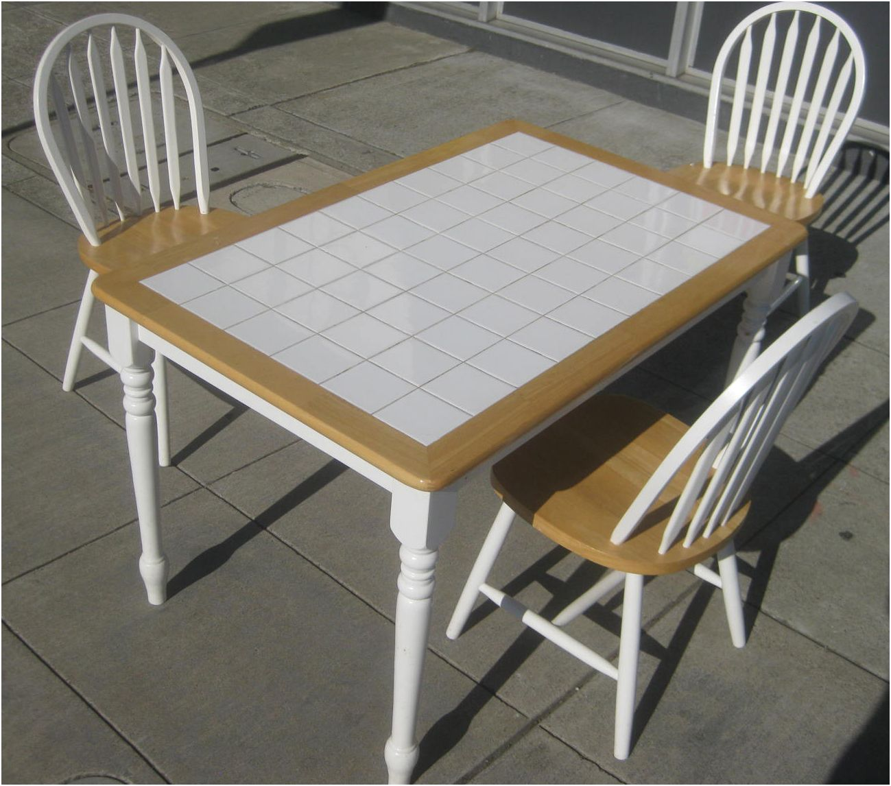 Uhuru Furniture Collectibles Sold Tile Top Table And Of Tile Top