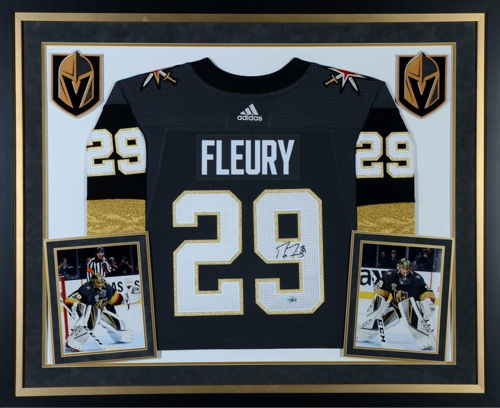 Marc-Andre Fleury Vegas Golden Knights Deluxe Framed Signed Black Adidas  Jersey 251f17642