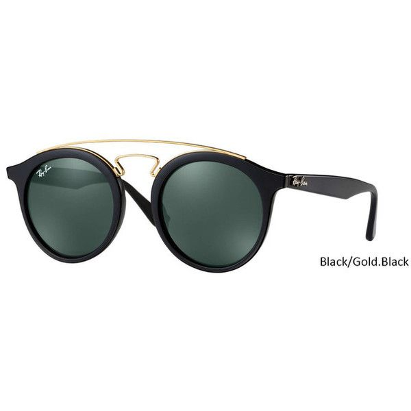 1c66a8f829 Ray Ban ORB4256 GATSBY I Black/Gold.Black Tortoise/Gold.Tortoise ❤ liked on  Polyvore featuring accessories