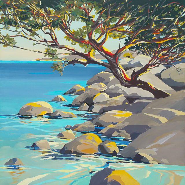 Corse Ecorces N 6 La Crique Peinture Peinture Abstraite