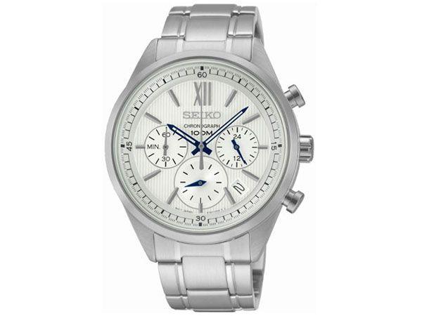 セイコー SEIKO 逆輸入 クロノグラフ メンズ 腕時計 SSB153P1 ホワイト メタルベルト -2