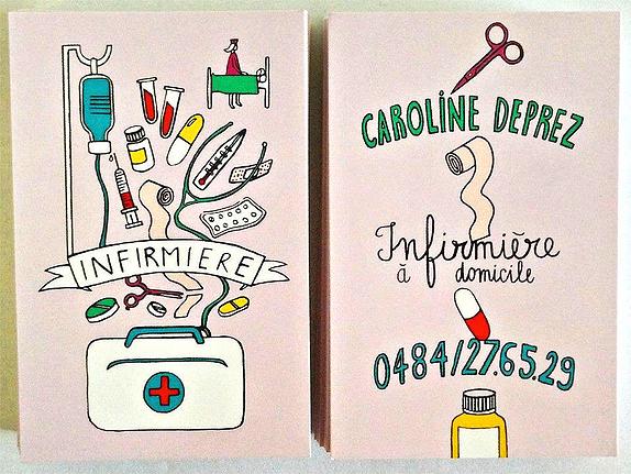Cartes de visite originales pour infirmi re lib rale - Creation cabinet infirmiere liberale ...