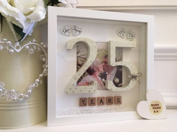 Personalised 25th Wedding Anniversary X2f Scrabble Art Picture Anniversary Frame 25 Wedding Anniversary Gifts 25th Wedding Anniversary