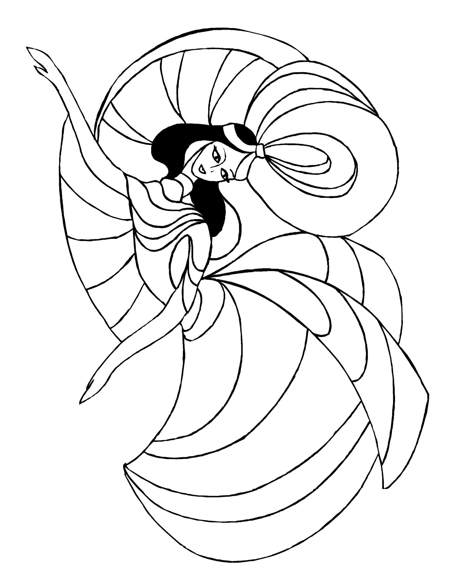 Oriental Dancer For Coloring In 2020 Dance Coloring Pages Coloring Pages Color