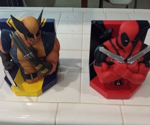 these are some bookends i made for my game room